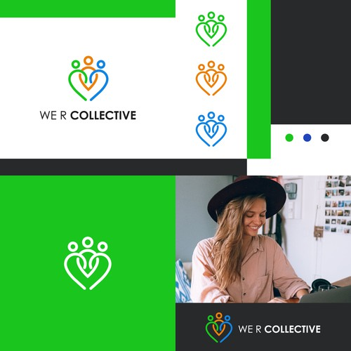 We r collective logo and branding design