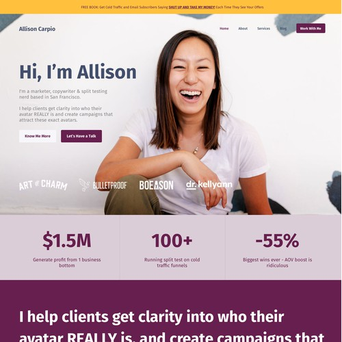 Allison Carpio Website Design
