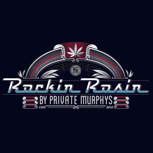 vintage style logo for Rockin Rosin