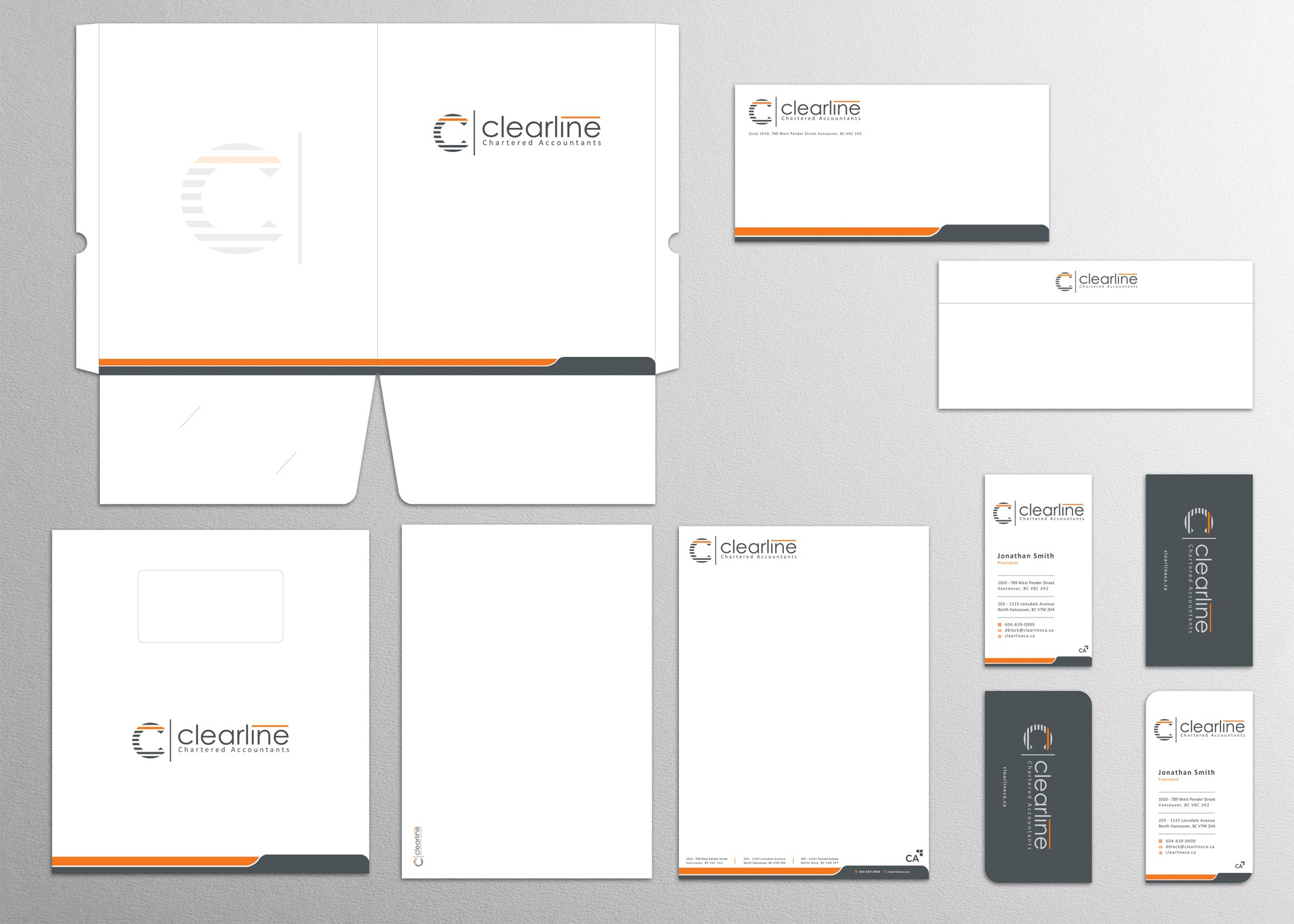 Design stationary for a fun, growing accounting firm