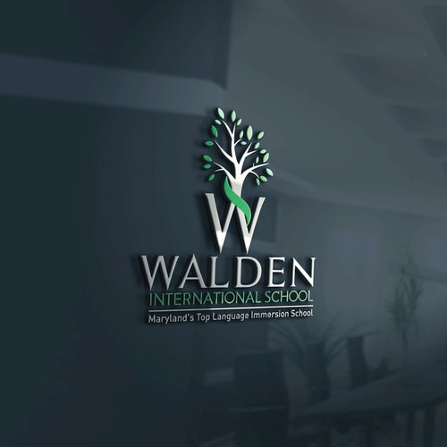 Walden international school logo design