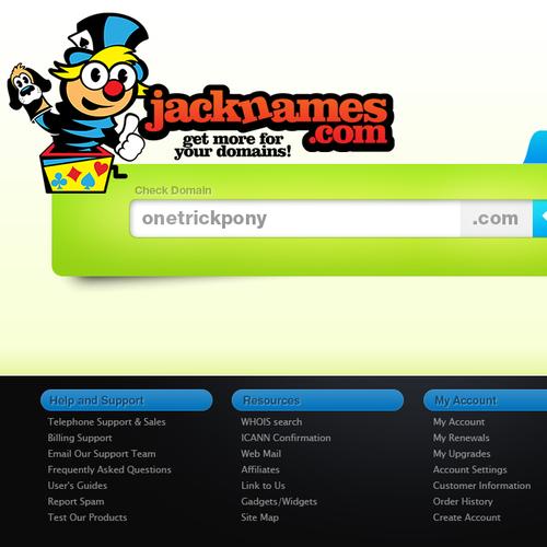 2009 - Site design for domain registraar