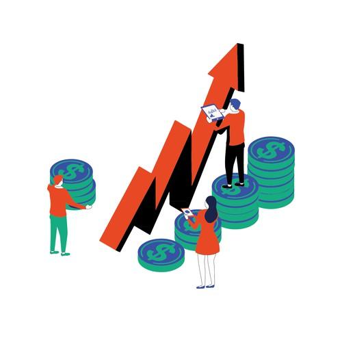 illustration for business conference