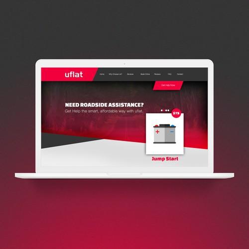 Uflat roadside assistance website design