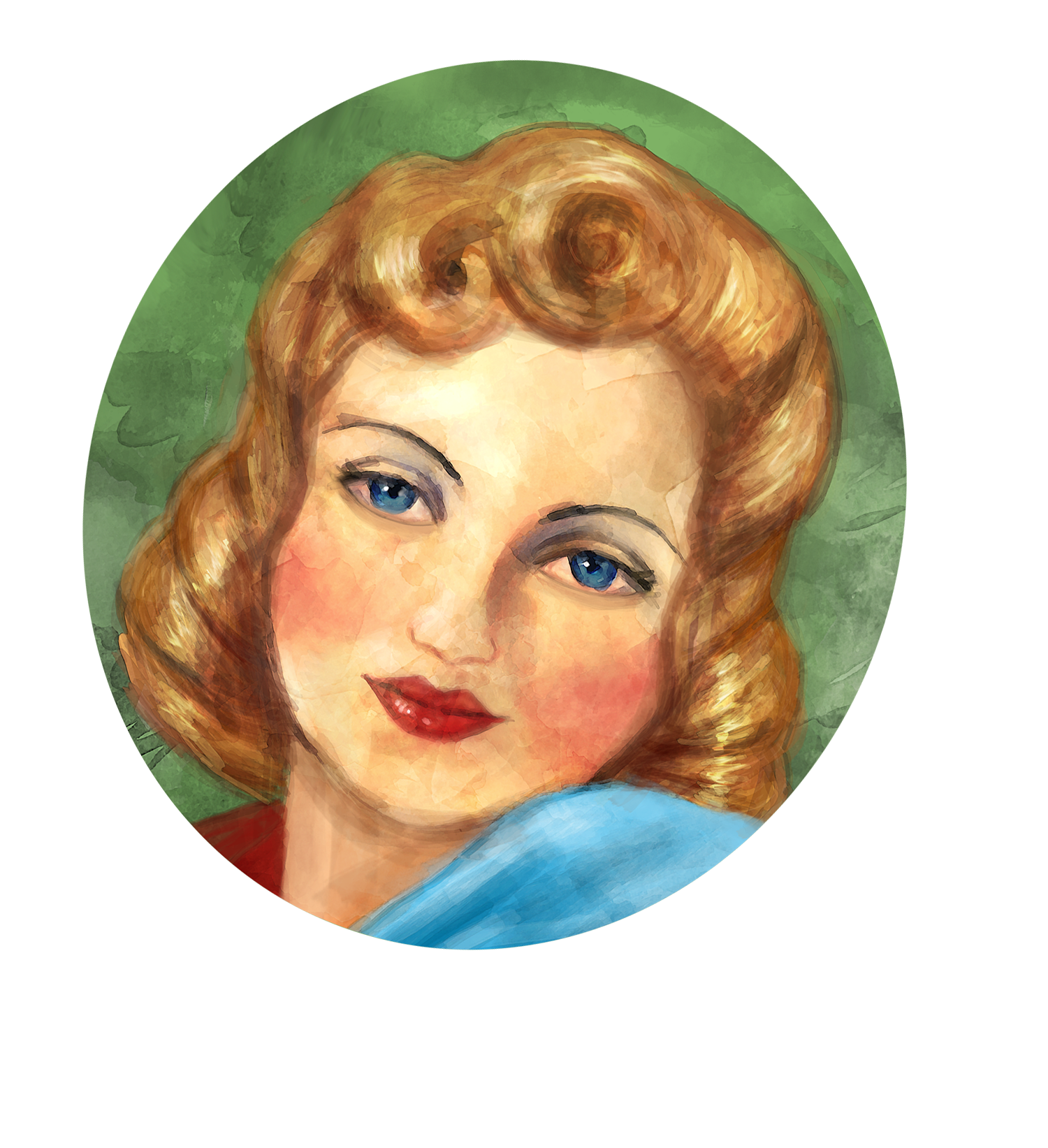 1940's woman's face