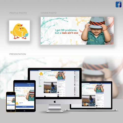 Diaper Company FB cover design