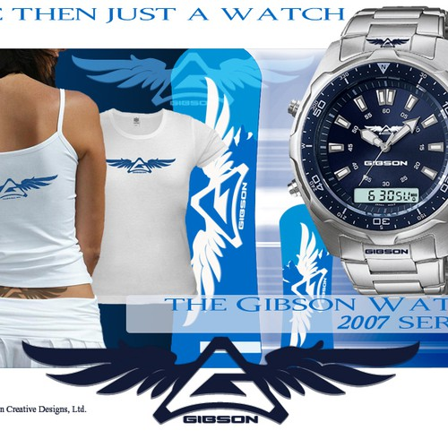 $200 First Place, $100 Second Place - Help us Design our logo for Gibson Watches!!