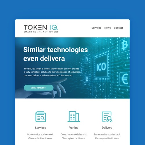 Digital currency Mail template