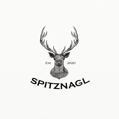 Vintage woodcut logo design.