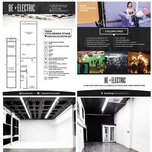 Redesign of brochure for film studio.