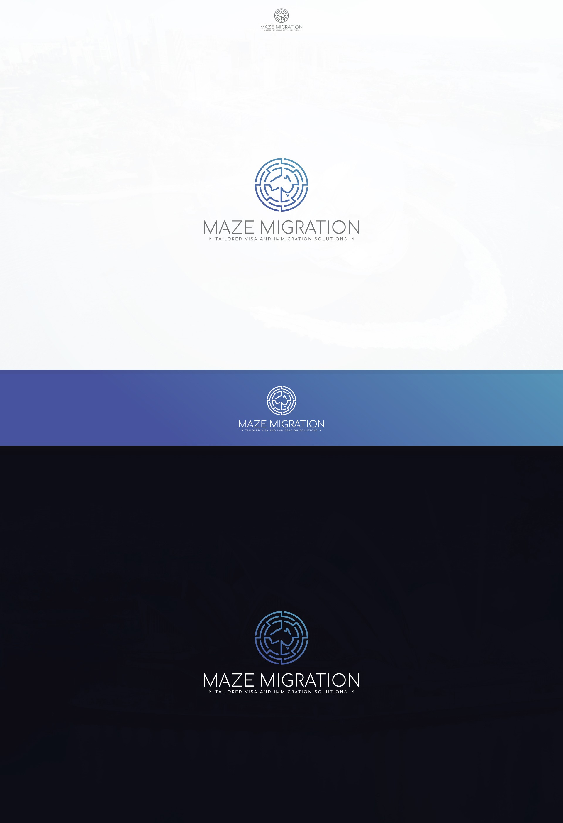 Unique logo required for Maze Migration business