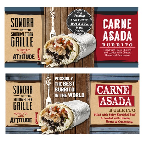 Create a hip and innovative burrito film packaging design!!