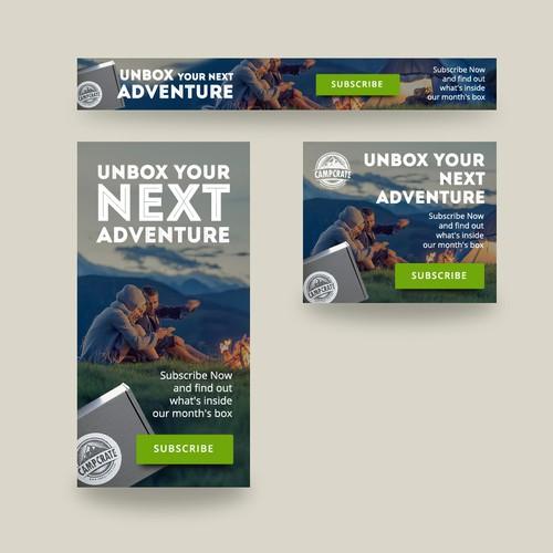 Banner ads design for CampCrate