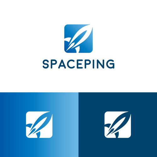 Rocket logo for a space research organization.