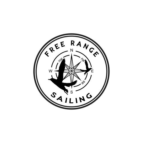 Free range sailing logo concept