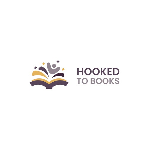 Logo concept for Hooked to Books