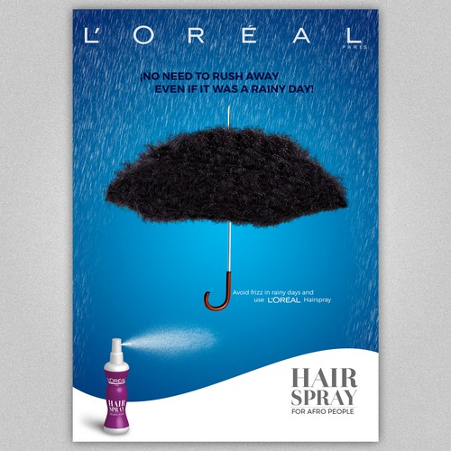Loreal Hair Spray for Afro People