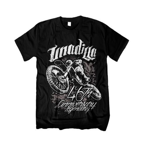 Create a tshirt for the legendary UNADILLA MOTOCROSS TRACK...