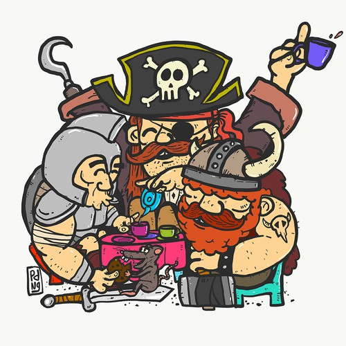 Pirate and friends