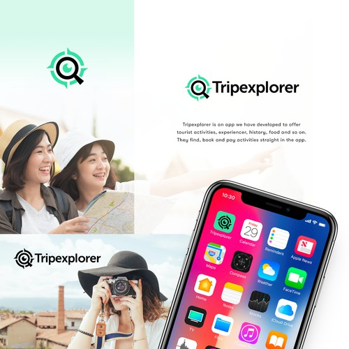 Modern Logo for an App for Tourists