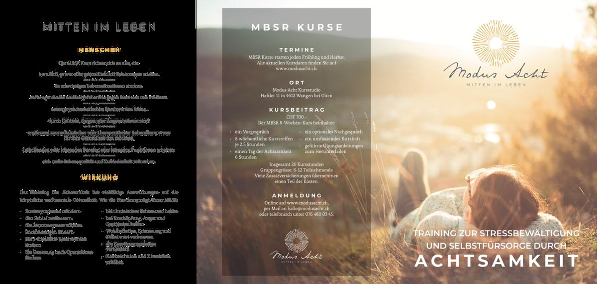 MBSR courses brochures