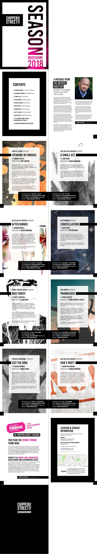 Chippen St Theatre Season Brochure