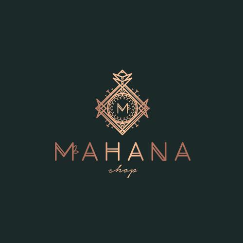 Pineapple logo concept for online shop