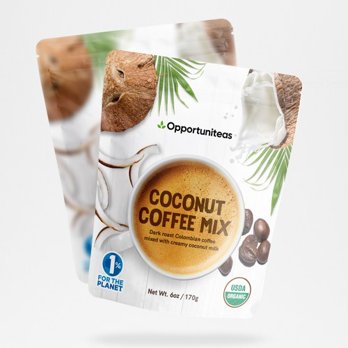 Coconut Coffee Mix - Packaging Concept