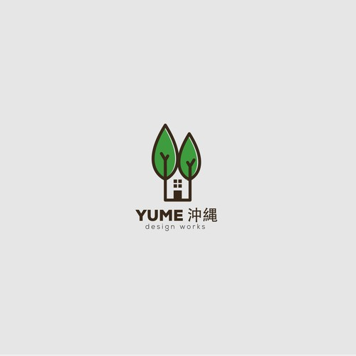 Create Logo for a company that the outside structure construction and gardening work around it