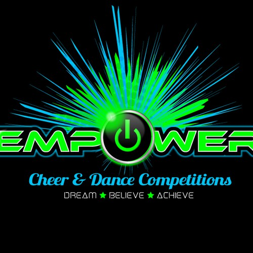 Create the next logo for Empower Cheer and Dance Competitions