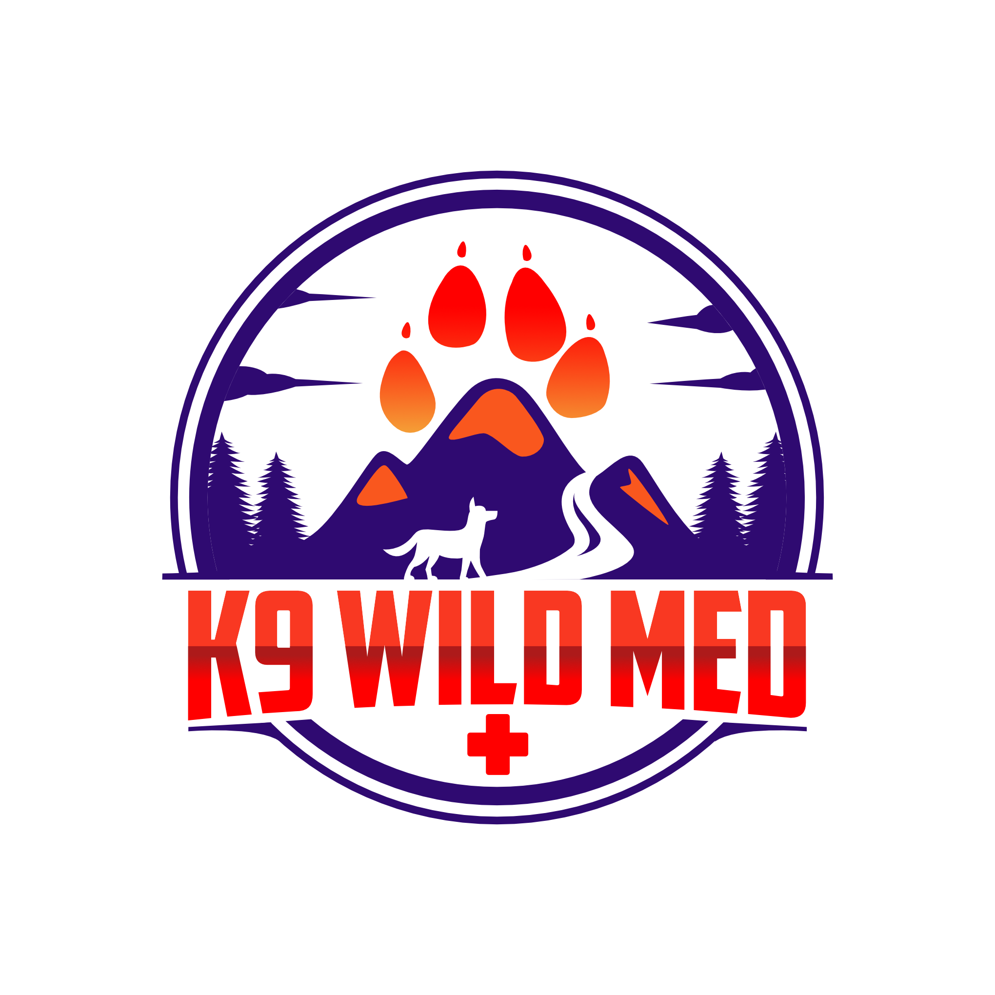 Seeking bold logo for backcountry/adventure dog first aid class and supplies.