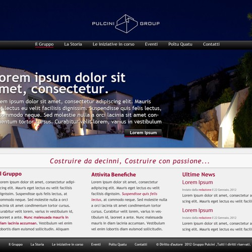 New website design wanted for Pulcini Group