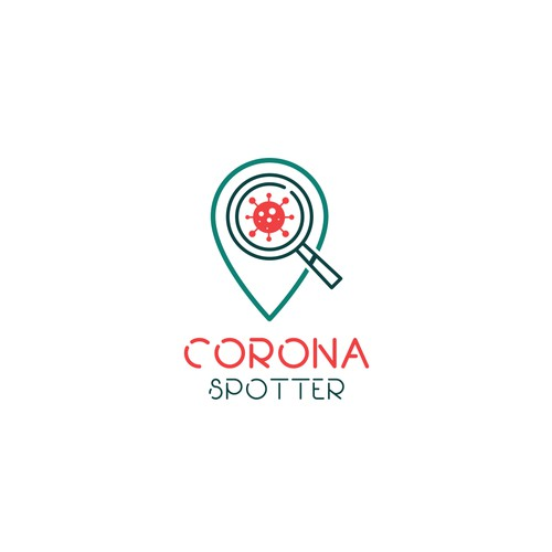 Corona Spotter Logo Design