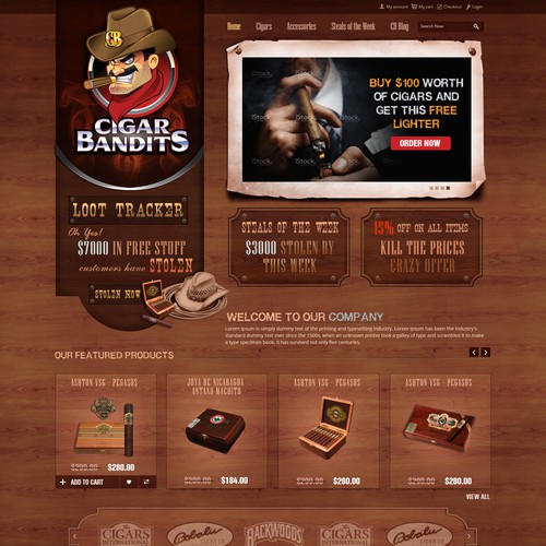 Design the new CigarBandits.com website!