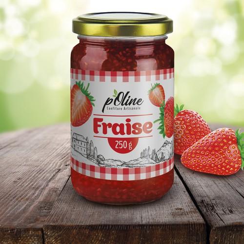 Etiqueta mermelada de fresa / Strawberry jam label