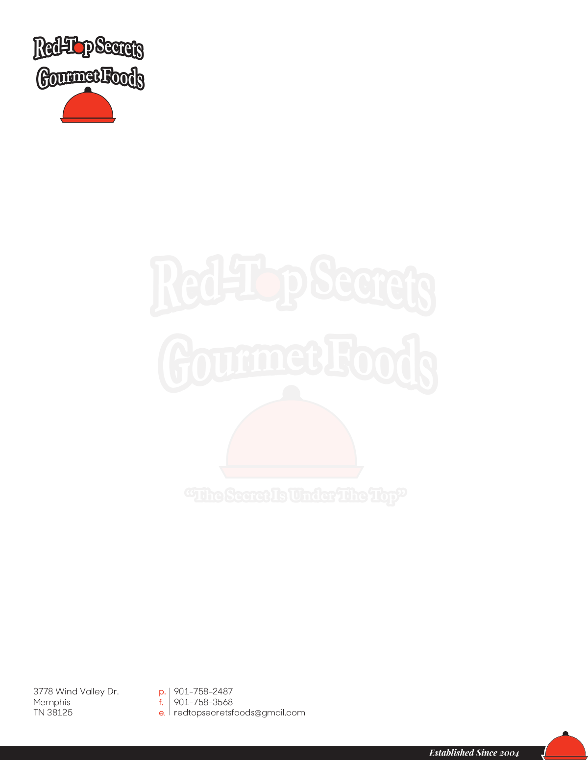 Red-Top Secrets Gourmet Foods