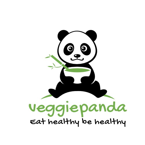 Panda logo for a veggie food order website
