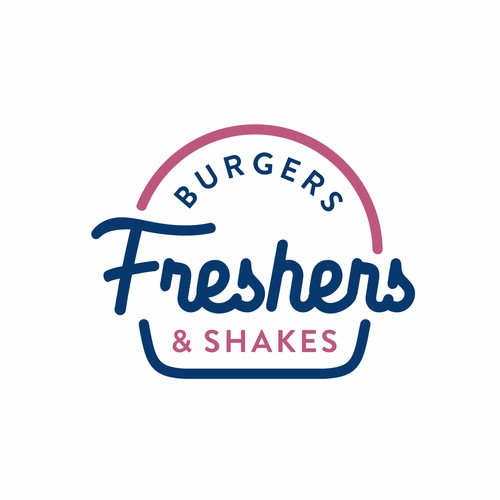 Minimalistic and modern logo for trendy burger and shake fast food restaurant