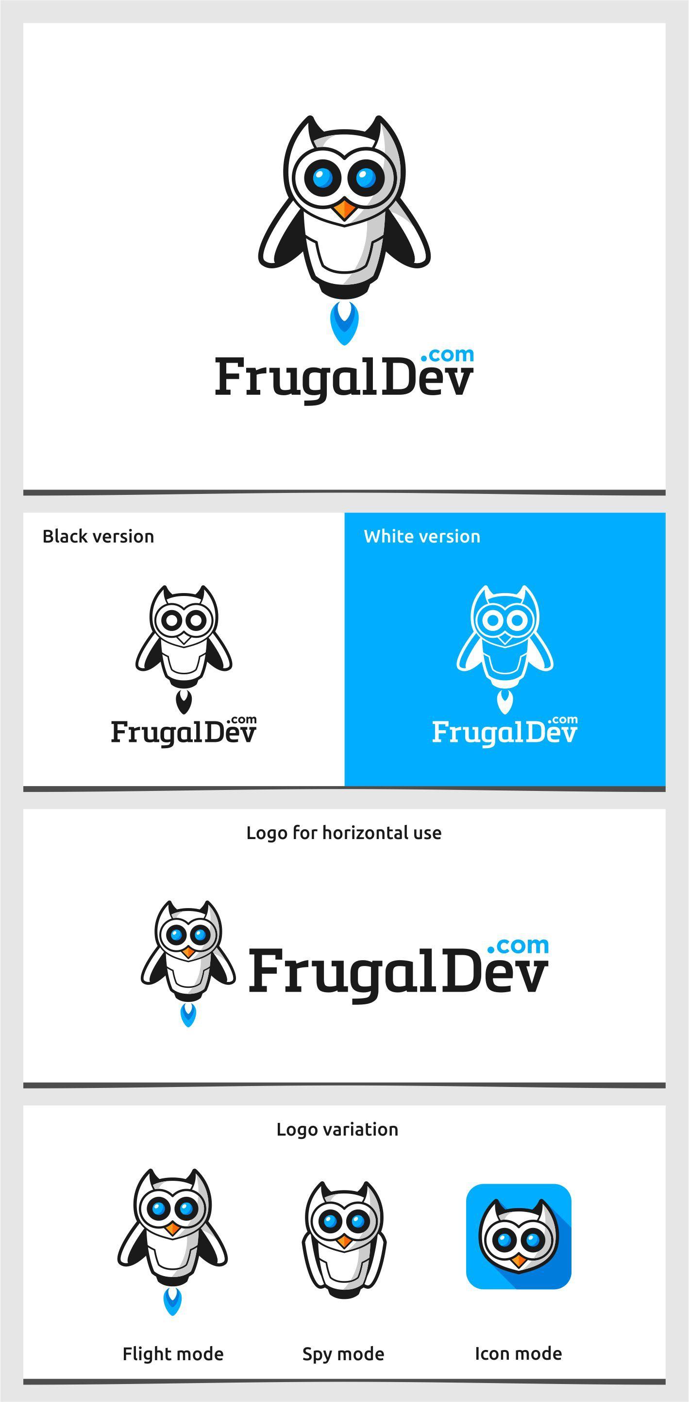Design a character based logo for FrugalDev.com