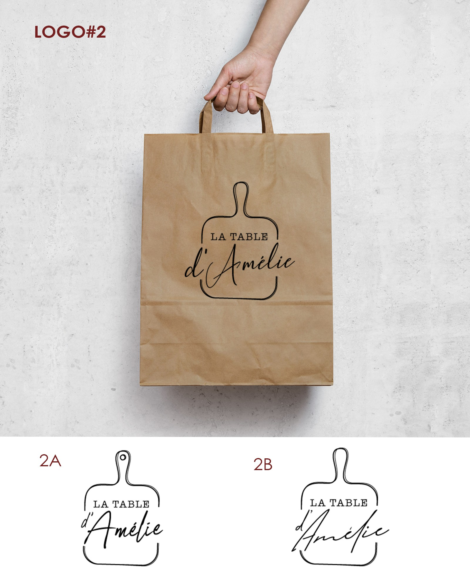 Logo creation for young cater of take away in Brussel