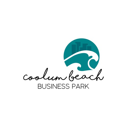 Business development logo by the sea