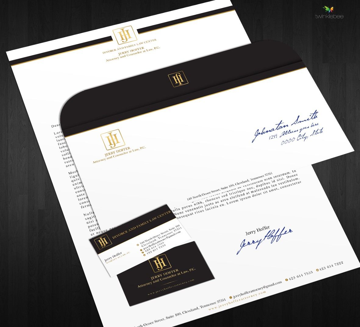 Help Jerry Hoffer Attorney at Law P.C. with a new stationery