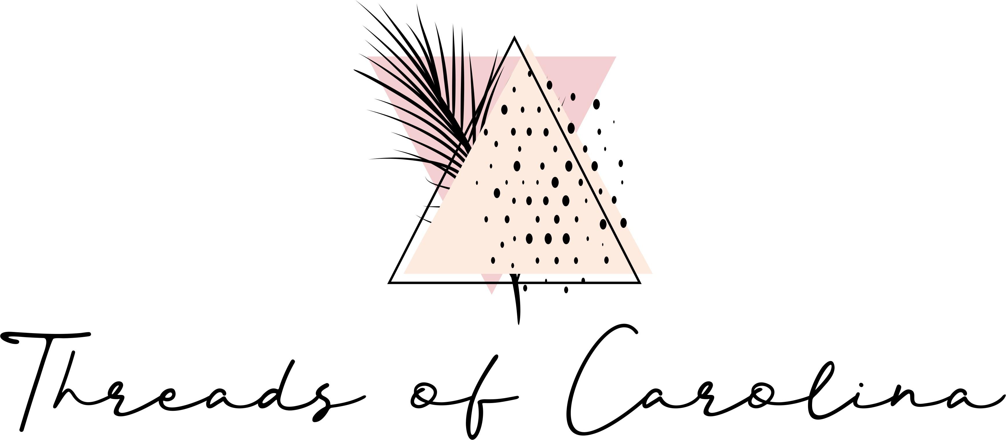 "Design a classically trendy logo for a fashion blog called ""Threads of Carolina"""