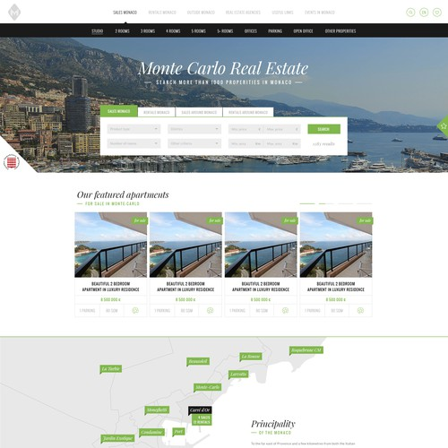 Design concept for Monte Carlo Real Estate