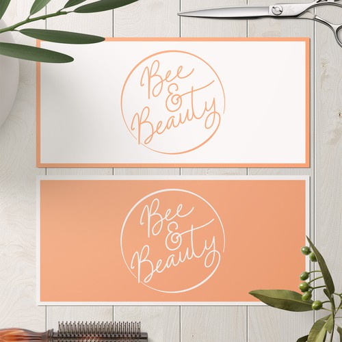 Bee & Beauty Logo Design