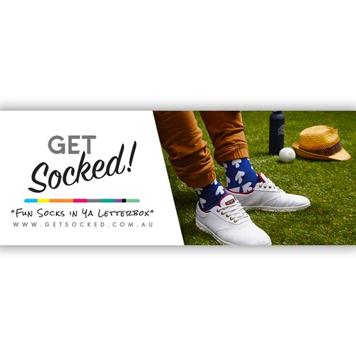 Awesome Facebook Banner for an Awesome Sock Company