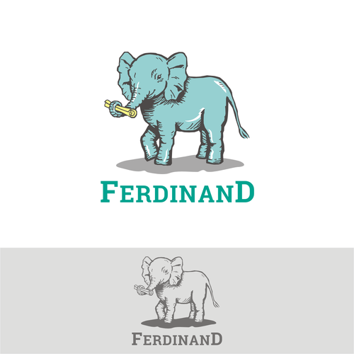 Hand drawn logo for children's online education platform