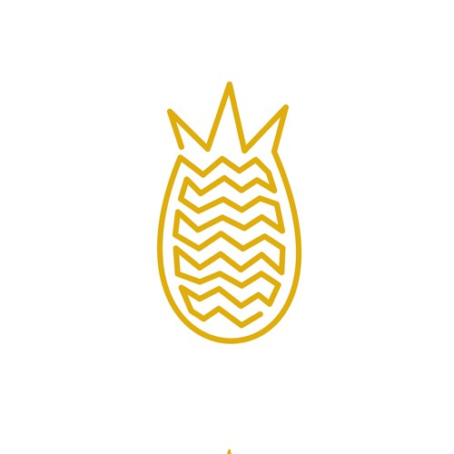 Monoline Logo Design Concept for Pineapple Clothing
