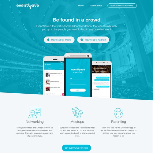 Eventwave landing page