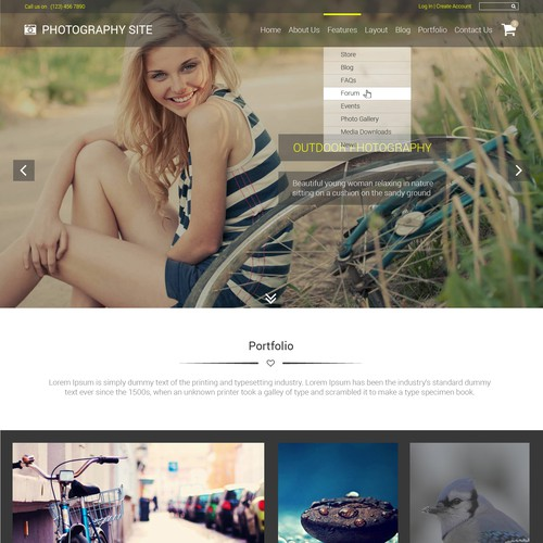 Design a Photography Website Template!